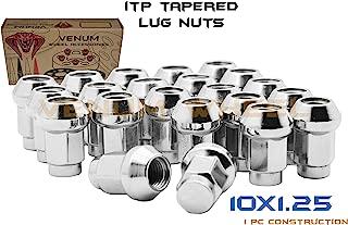 QTY-16pc ITP Chrome 10x1.25 Tapered Bulge Acorn Lug Nuts Fits Most Honda, Suzuki, Yamaha & Arctic Cat ATV/UTVs With Aftermarket & OEM Wheels