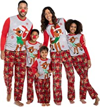 Rudolph the Red Nosed Reindeer Christmas Holiday Family Sleepwear Pajamas Dad Mom Kid Baby