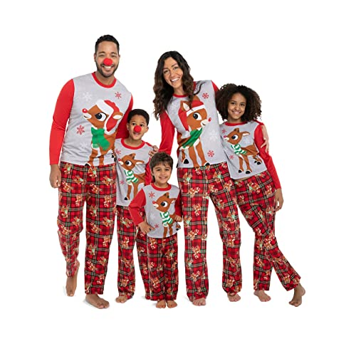 d5b4a796b1 Rudolph the Red Nosed Reindeer Christmas Holiday Family Sleepwear Pajamas  Dad Mom Kid Baby