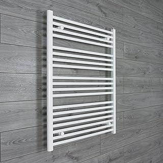 Radiador Toallero Térmico Recto Plano Blanco de Baño de 750mm deancho x 1000 de alto - Calefacción Central