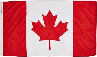 Annin Flagmakers Model 191337 Canada Flag 3x5 ft. Nylon SolarGuard Nyl-Glo 100% Made in USA to Official United Nations Design Specifications.