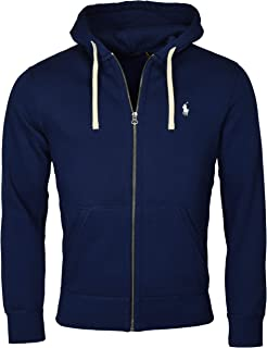 Mens Classic Full-Zip Fleece Hooded Sweatshirt