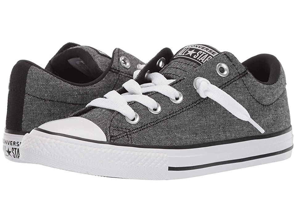 Converse Kids Chuck Taylor All star Street Urchin Slip (Little Kid/Big Kid) (Black/Black/White) Boys Shoes