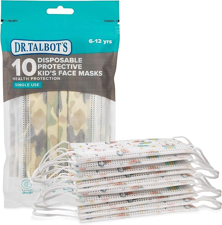 Mascherina per bambini con disegni mascherina con 3 filtri - pacchetto richiudibile da 10 pezzi - 6-12 anni ID80098
