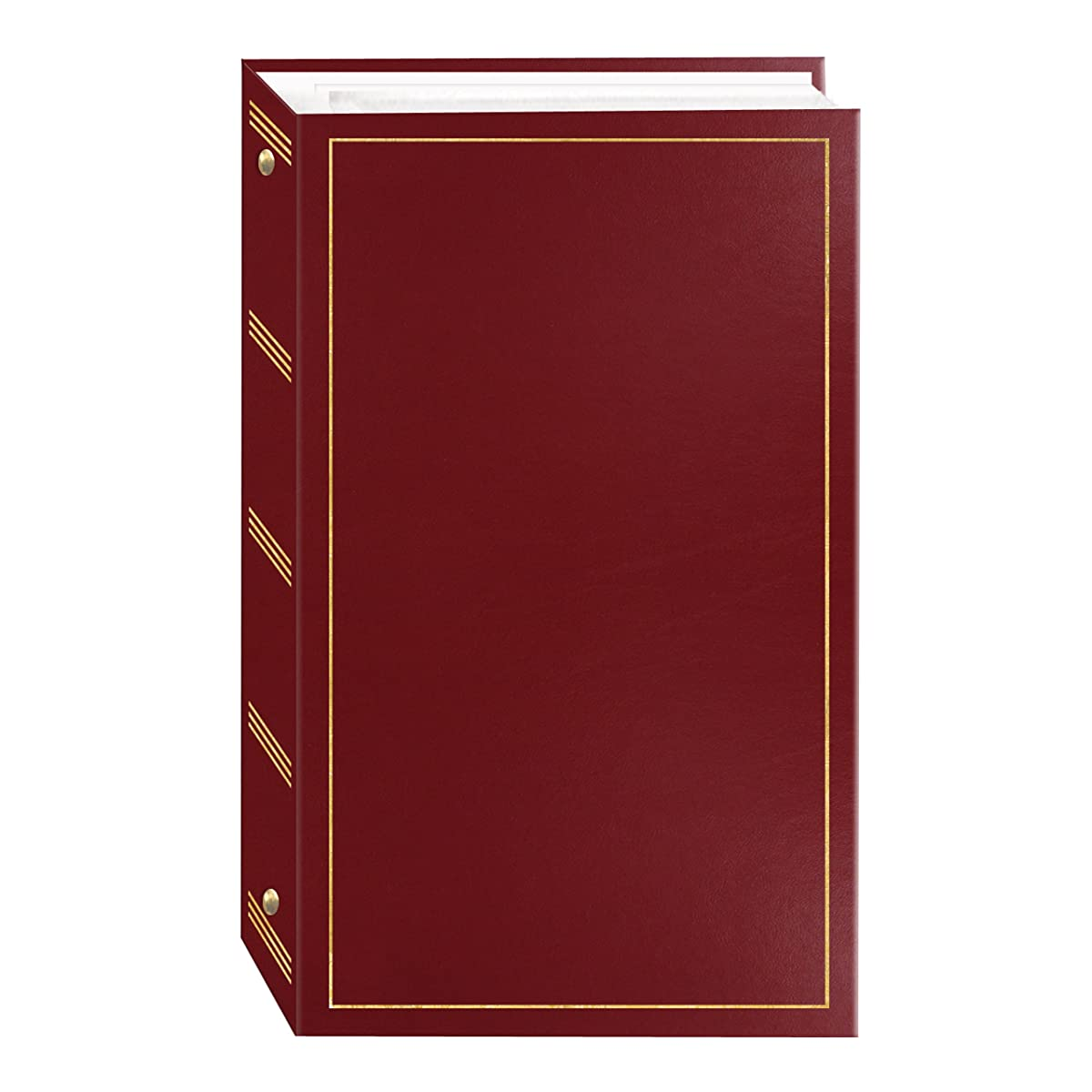 3-Ring Photo Album 204 Pockets Hold 4x6 Photos, Burgundy Red