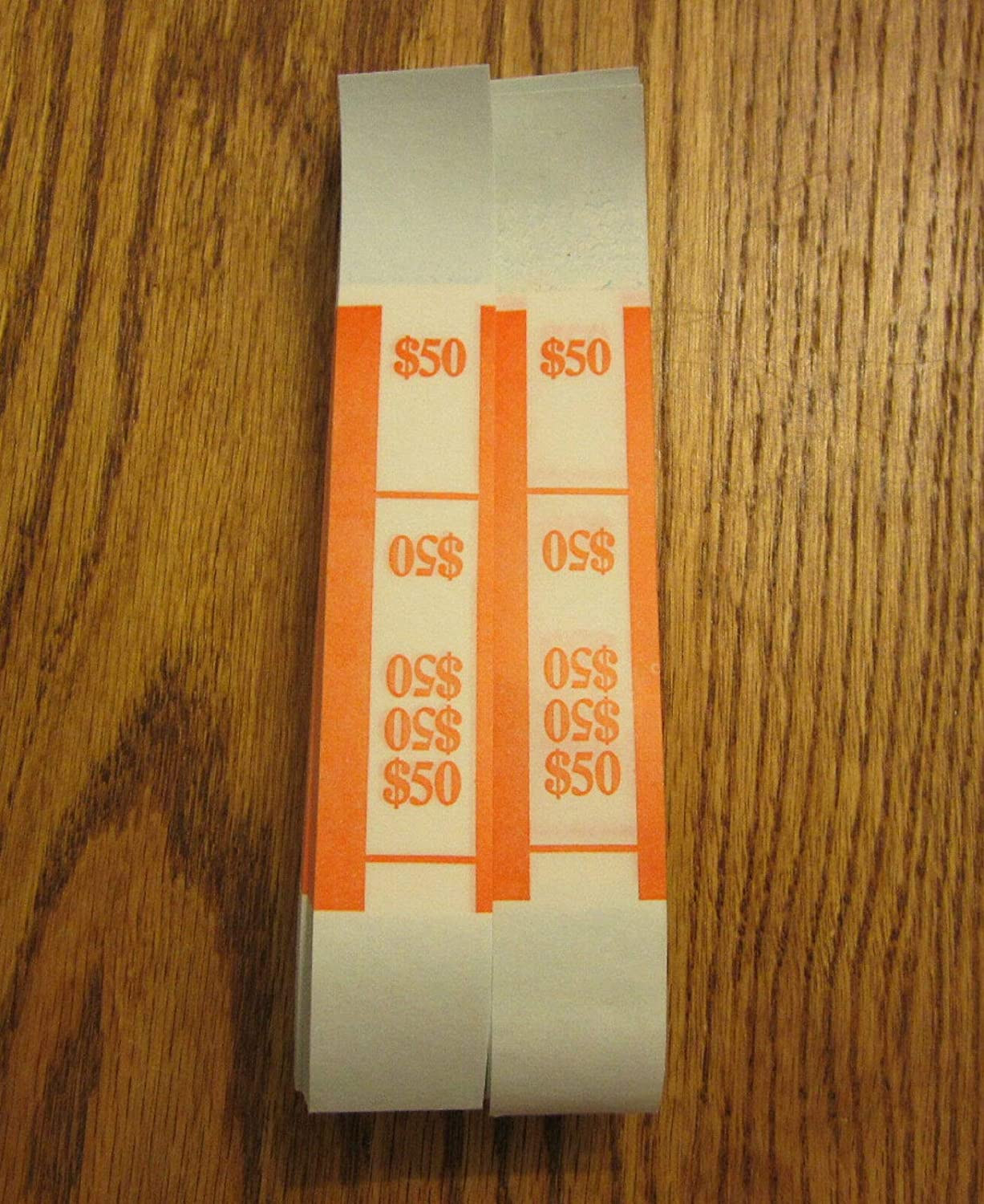 discount 100 Store SELF Sealing Currency Straps Bands PMC $50 Bill Money