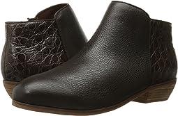 Dark Brown Tumbled Leather/Croco Leather