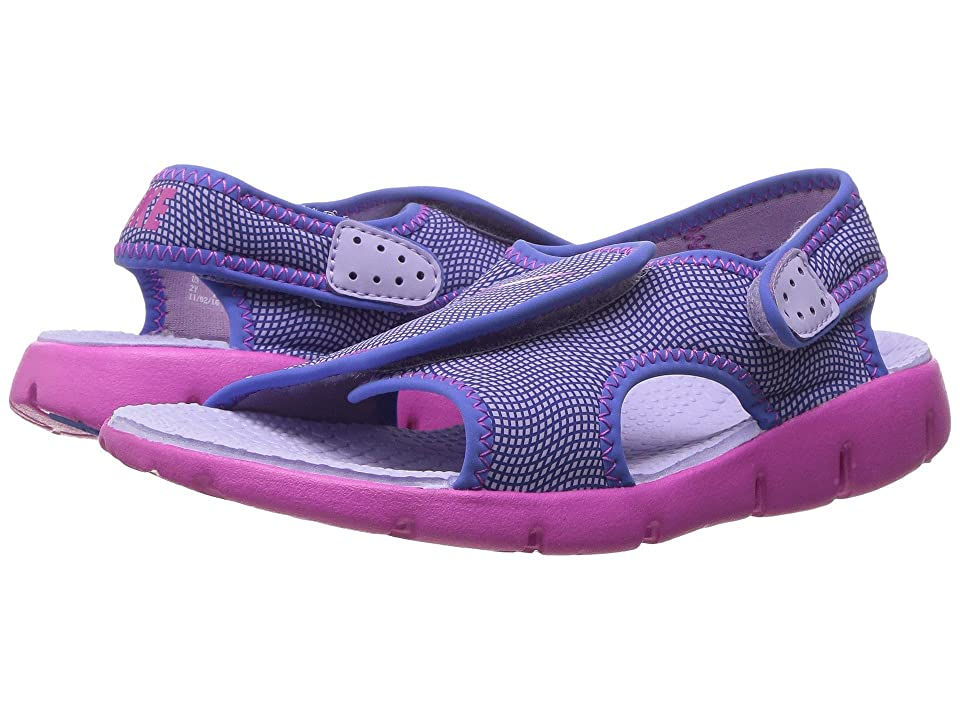 Nike Kids Sunray Adjust 4 (Little Kid/Big Kid) (Hydrangeas/Fire Pink/Comet Blue) Girls Shoes