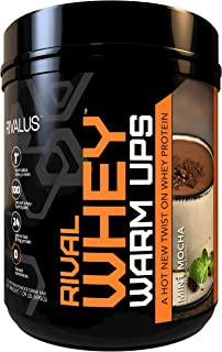 Rivalus Rival Whey Warm Ups, Mint Mocha, 1lb - Heat Stable, 100% Whey Protein, Whey Protein Isolate Primary Source, Clean ...
