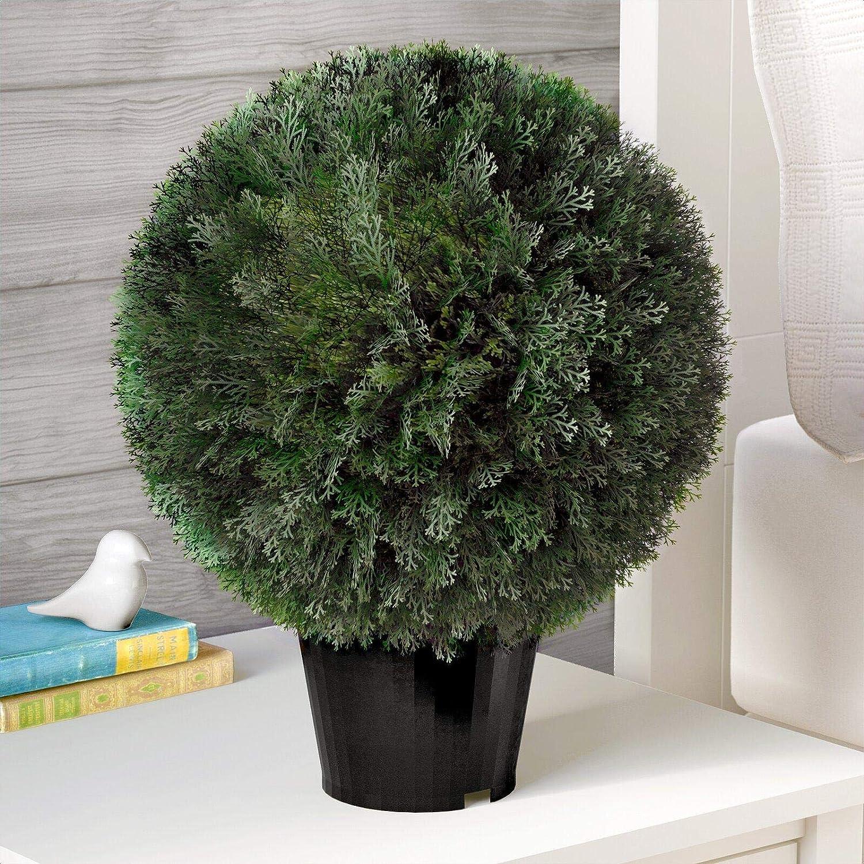 Rare Artificial Ball Cedar Topiary Max 62% OFF Pot in