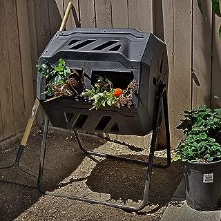 Barton Tumbler Composter Composting Bins Garden Easy Turn System Rotating Barrel, 37 Gallon