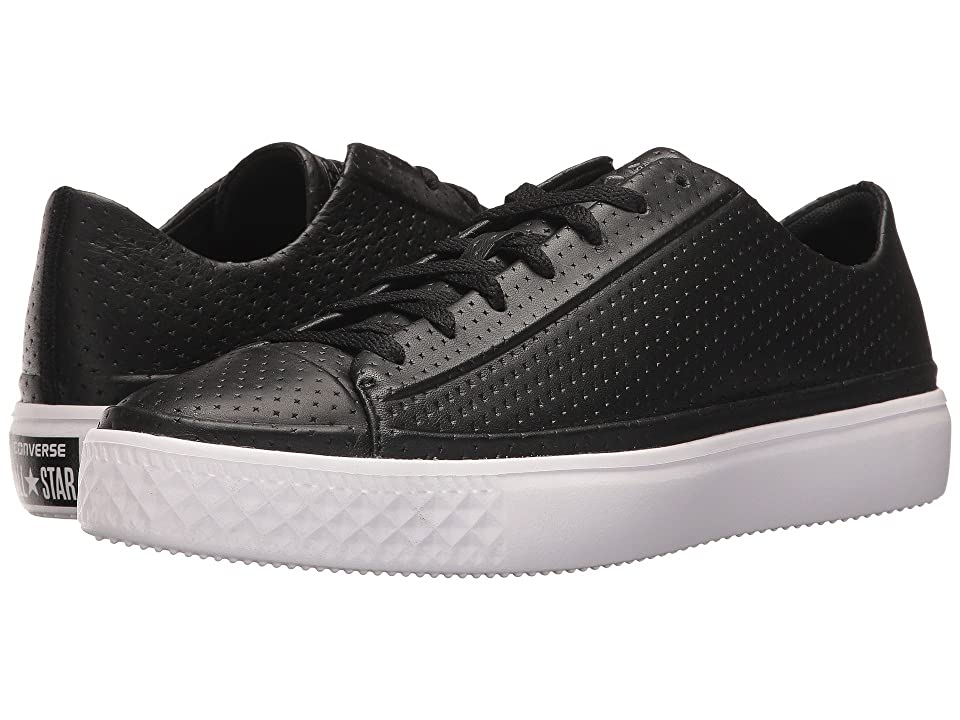 Converse Chuck Taylor All Star Modern Perforated Leather (Black/Black/White) Shoes