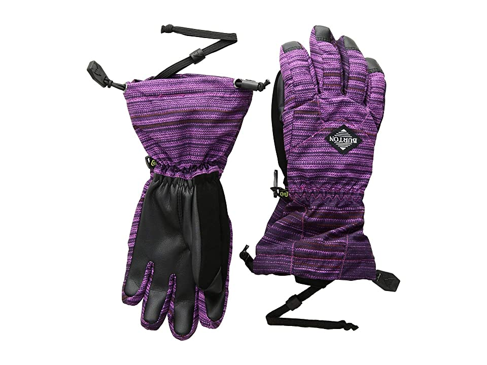 Burton Kids Profile Gloves (Little Kids/Big Kids) (Grapeseed Sunset Stripe) Snowboard Gloves