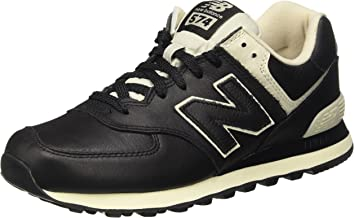 new balance 574 piel hombre negras