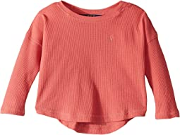 Waffle-Knit Cotton-Blend Top (Toddler)