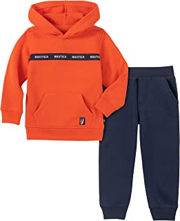Nautica Boys' 2 Pieces Hooded Pullover Pants Set