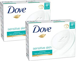 Dove Beauty Bar Sensitive Skin 4 Ounce, 16 bars (2 x 8 bars)