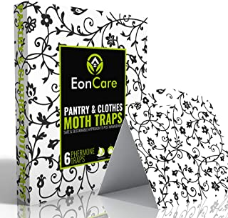 EonCare Pantry & Clothes Moth Traps | Dual Action Formula Captures More Types of Moths | Safe & Natural | 6 Pack | New & I...