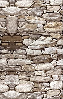 HaokHome 1900 Faux Rock Stone Peel and Stick Wallpaper 17.7