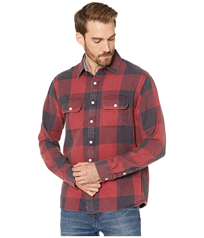 Men's Vintage Workwear Inspired Clothing The Normal Brand Mountain Overshirt Red Mens Clothing $53.10 AT vintagedancer.com