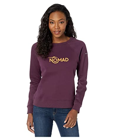 Columbia Hart Mountaintm Graphic Crew (Black Cherry/Nomad) Women