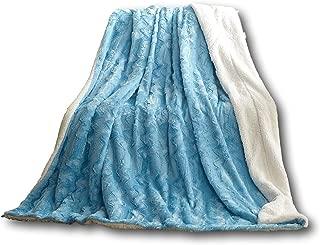 Tache Faux Fur Throw Blankets (Sky Blue, 50x60)