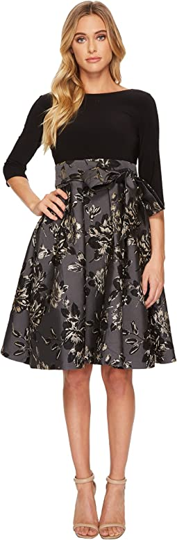 Jessa Jacquard Jersey Fit and Flare Dress