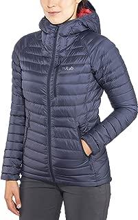 RAB Microlight Alpine Long Jacket - Womens, Steel/Passata, Extra Small, QDA-93-ST-08