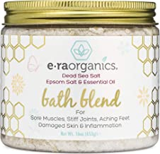 Relaxing Bath Salts & Essential Oils – Extra Soothing Spa Quality Epsom Salt, Dead Sea Salt & Essential Oil Blend For Sore Muscles, Swollen Feet, Sitz Bath for Hemorrhoids & More Era-Organics