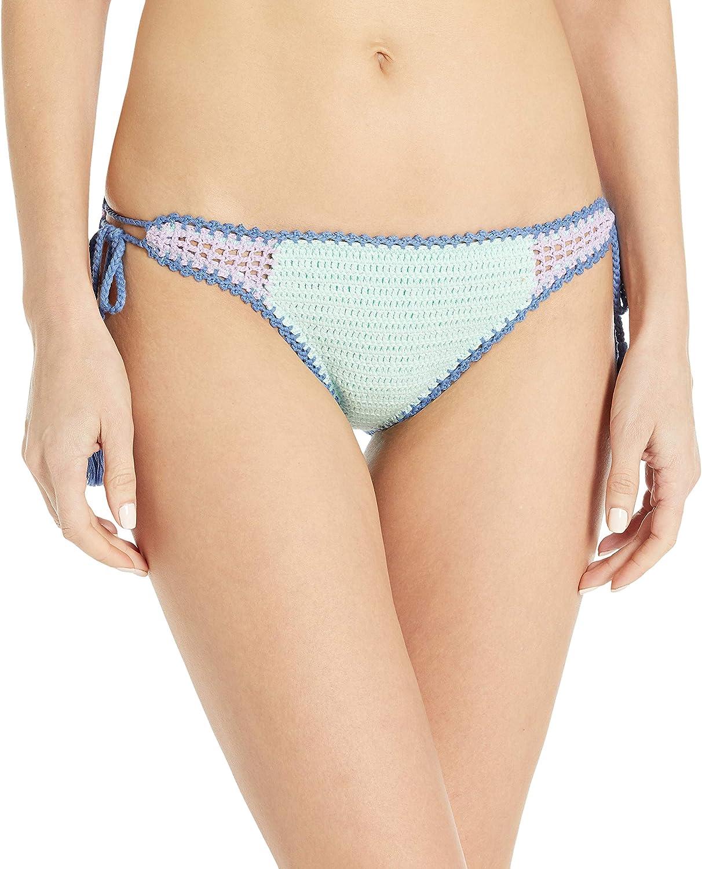 Seafolly Women's Standard Crocket Tie Side Brazilian Coverage Bikini Bottom Swimsuit