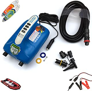 Seamax SUP 20PSI Intelligent Double Stage Electric Air Pump for Inflatable Boat and Stand Up Paddle Board, Fully Support I...