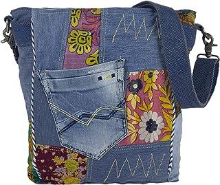 Sunsa Damen Taschen Umhängetasche Handtasche Canvas mit Jeans & Leder/Baumwolle. Große Vintage Crossbody Tasche/bag Schultertasche, Geschenkideen für Frauen/Mädchen nachhaltige Produkte 52455