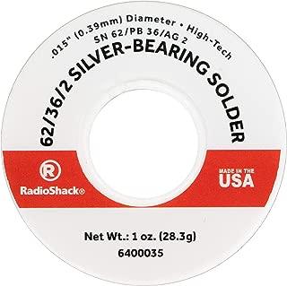 RadioShack SnPbAg 62/36/2 Silver-Bearing Rosin-Core Solder, 0.015