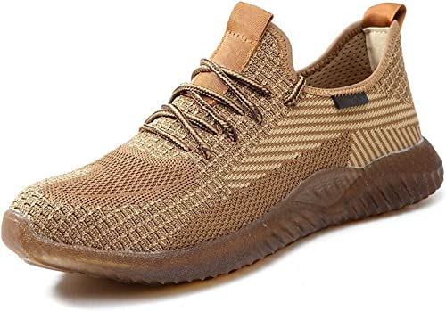 lowest findmall outlet sale Mens Work Safety Shoes outlet online sale Steel Toe Boots Indestructible Lightweight Sneakers Outdoor outlet online sale