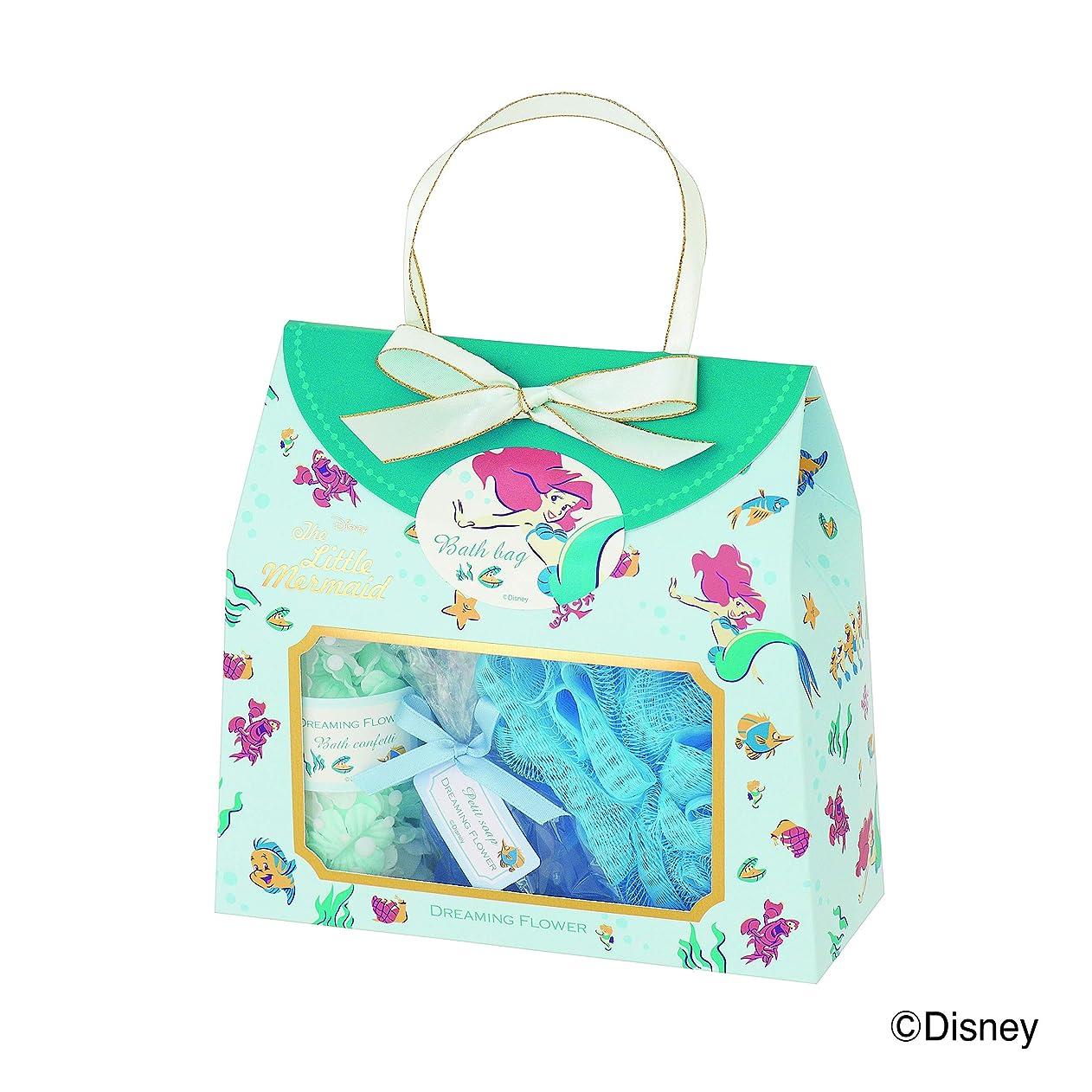 巻き取り動的水っぽいディズニーフレグランスコレクション バスバッグト5点セット アリエル ドリーミングフラワー(透明感のあるムスクの香り)