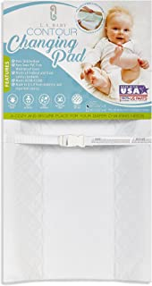 """Best LA Baby Contoured Waterproof Diaper Changing Pad, 30"""" with Easy to Clean Quilted Cover - Made in USA. Non-Skid Bottom, Safety Strap, Fits All Standard Changing Tables/Dresser Tops Reviews"""
