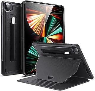 ESR iPad Pro 12.9 ケース 第五世代 5G 2021年モデル対応 スタンドケース 9つのスタンド角度 調節可 しっかり保護 磁気吸着 ペンシルホルダー付き(ブラック)