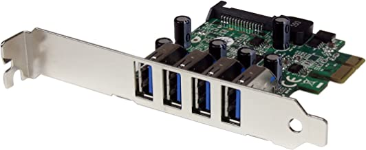 StarTech.com 4 Port PCI Express PCIe SuperSpeed USB 3.0 Controller Card Adapter with UASP - SATA Power - USB 3 PCIe Card (PEXUSB3S4V)