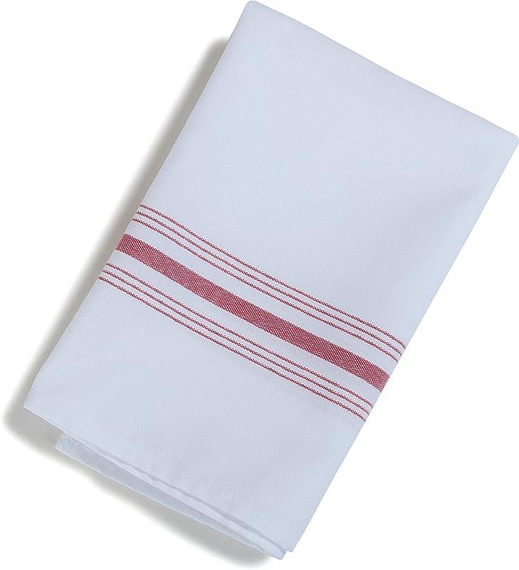 Carlisle 53771822NH001 Restaurant Quality Cloth Dinner Bistro Napkins 18 X 22 Red Stripe Pack Of 12