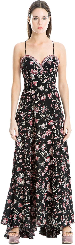 Max Studio London Womens Floral Print High Waist Maxi Dress Pink S