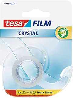 tesa 德莎 德国进口 薄膜水晶透明胶带 尺寸为10m*19mm + 切断器