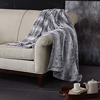 Madison Park Zuri Luxury Faux Fur Oversized Throw Premium Soft Cozy Brushed for Bed, Coach or Sofa, 60x70