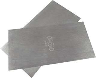 """Pair Set of 2 each Clifton Tool Company 3"""" x 6"""" Super Thin (0.010"""" or .25 mm) Cabinet Scrapers UK High Carbon Tool Steel TTW.010x2"""