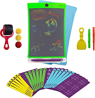 Aqua Magic Mat,FUNTOK Doodle Mat Water Drawing with Color Board 3 Magic Pens and Drawing Molds Educational Toy For Kids Toddler 28.5 17.5 Inch Chamnwii
