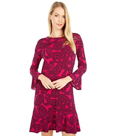 MICHAEL Michael Kors Floral Mix Flounce Dress (Azalea) Women