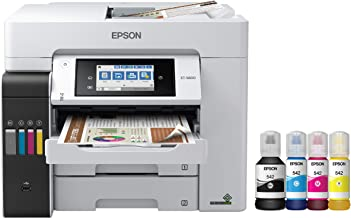 Epson EcoTank Pro ET-5800 Wireless Color All-in-One Supertank Printer with Scanner, Copier, Fax and Ethernet Plus 2 Years ...