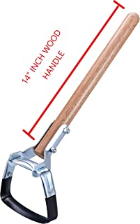 Arcadius Garden Oscillating Scuffle Cultivator Hoe with 14-Inch Wood Handle Mini Action Hoe - Garden Wiggle Hoe