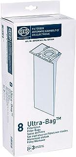SEBO 5093ER Electrostatic Fleece Bags for Upright Vacuum Cleaner, Pack of 8