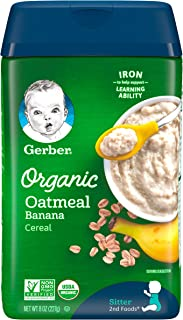 Gerber Oatmeal Banana Organic Cereal