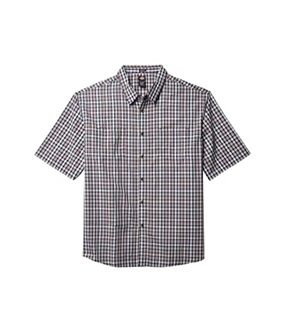 Dickies Big Tall Short Sleeve Woven Shirt (Navy Plaid) Men
